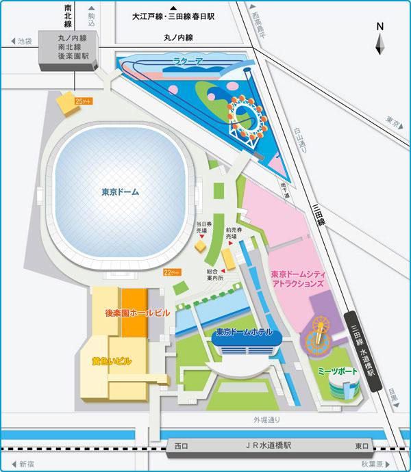 東京ドーム、地図
