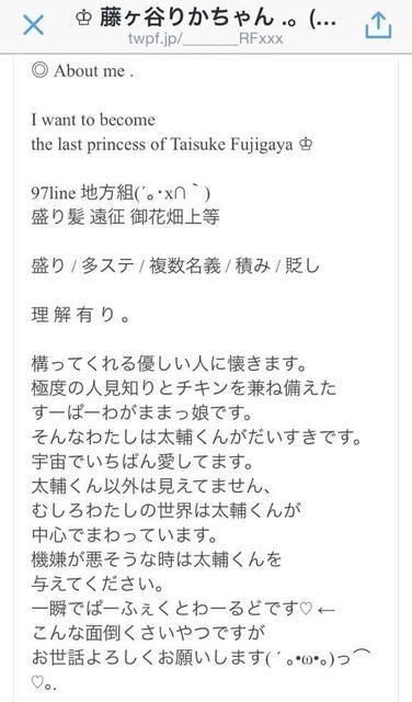 藤ヶ谷リカプロフィール